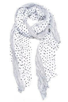 White with Black Dot Scarf