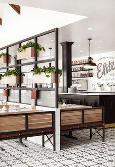 Episode 17 - The Magnolia Table - Magnolia Market Cafe Interior Design, Cafe Design, Interior Shop, Design Design, Booth Design, Breakfast Restaurants, Bistro, Magnolia Market, Restaurant Design