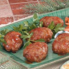 Barbecued Onion Meat Loaves