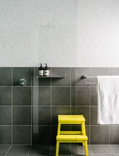 Combo with large and small square tiles.