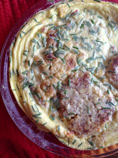 Quick and Easy Crustless Crabcake Quiche