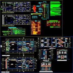 Engineering et Architecture: Plan d'un projet Complet de logement en dwg Graphisches Design, Plan Design, Bloc Autocad, Cad Computer, House Fence Design, Plans Architecture, Electrical Plan, Engineering Technology, Cad Blocks