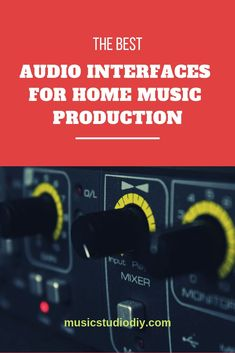 Best Audio Interfaces Guide for Home Music Studios - Music Studio DIY Music Studio Decor, Home Recording Studio Setup, Home Studio Music, Home Studio Equipment, Dj Equipment, Recording Equipment, Music Production Equipment, Studio Layout, Backyard Studio