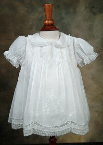 Baby Christening Dress, White Embroidered Dress