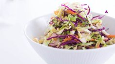 Try a healthier alternative with this no-mayo coleslaw recipe with lemon juice and honey for extra flavor. Get this side dish recipe at PBS Food.