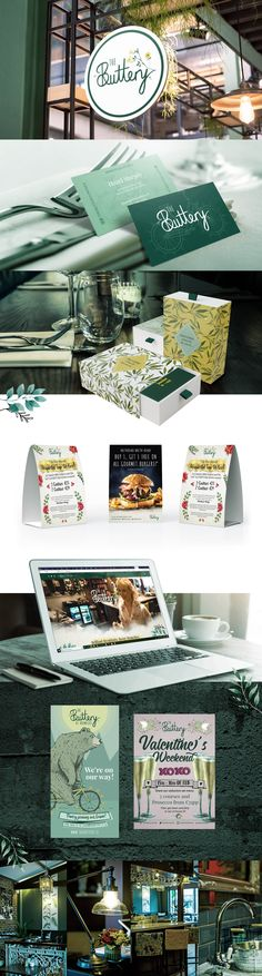 Restaurant Branding and graphic design for The Buttery in Limerick Ireland