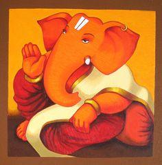 Alfa img - Showing > Lord Ganesha Paintings Art Ganesha Drawing, Lord Ganesha Paintings, Ganesha Art, Krishna Art, Shri Ganesh, Ganesh Rangoli, Ganesh Tattoo, Ganesha Pictures, Indian Folk Art