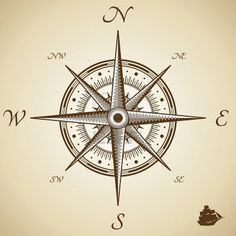 Image detail for -Vector Compass. Height Quality Illustration. Old Style. Royalty Free ...