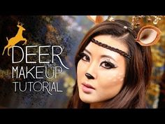 ▶ Cute Deer Makeup Tutorial | Halloween 2013 - YouTube