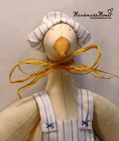 Stasik Goose Handmade Tilda doll