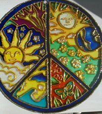 "Mandala ""Del Sol"", vidrio 20cm"