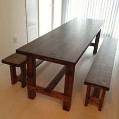 diy farmhouse table bench, diy, home decor, how to, living room ideas, painted furniture, woodworking projects