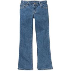 Faded Glory Girls' Bootcut Jeans, Size: 7, Gray