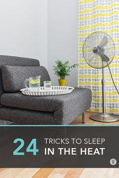 Getting a good night's sleep when you're overheate…