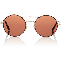 Oliver Peoples Women's Nickol Sunglasses ($380) ❤ liked on Polyvore featuring accessories, eyewear, sunglasses, peach, oliver peoples glasses, round lens sunglasses, tortoiseshell sunglasses, tortoise sunglasses and logo lens sunglasses