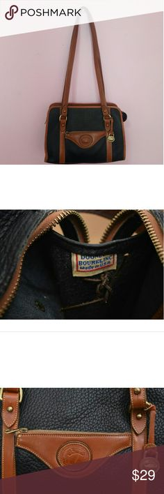 Vintage Dooney &Bourke USA bag!! Black and brown pebbled leather and a great all weather bag!! Some signs of use but in overall greay condition!! Cute and fashionable!! #DOONEY&BOURKE #VINTAGEDOONEY&BOURKE Dooney & Bourke Bags Shoulder Bags