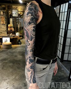 I simply love the colors, outlines, and fine detail. This really is a terrific artwork if you really want a Japanese Forearm Tattoo, Japanese Tattoo Artist, Japanese Tattoos For Men, Japanese Tattoo Designs, Japanese Sleeve Tattoos, Black And Grey Tattoos Sleeve, Black Tattoos, Irezumi Tattoos, Forearm Tattoos