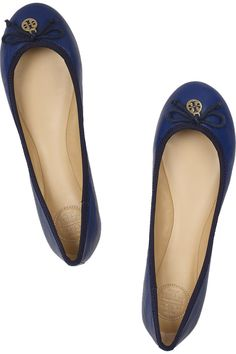 Tory Burch | Chelsea leather ballet flats blue