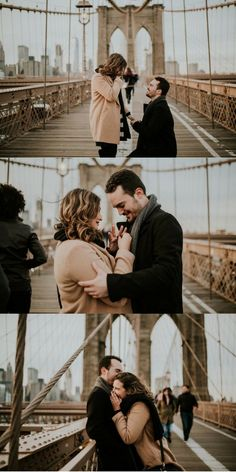 She always wanted to walk on Brooklyn Bridge, but she never expected him to propose there!