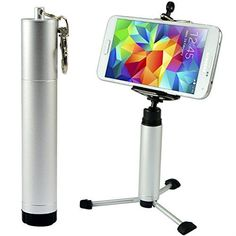 First2savvv ZP-100A16 silver Portable Self-portrait handheld Pole Arm monopod stand Camcorder/Camera/mobile phone tripod mount adapter bundle for ZTE V9A Tania Skate Racer II Racer MF60 Mobile Wi-Fi Hotspot Libra Kis Grand X with LENS Cleaning Cloth