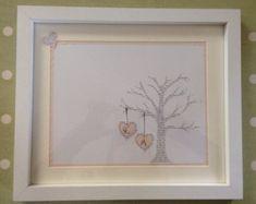 UK Seller: Anniversary gift paper, lyrics tree and initials. 1st Anniversary Gifts, Anniversary Dates, Oak Color, Frame It, Handmade Items, Handmade Gifts, Paper Gifts, Uk Shop, Personalized Wedding