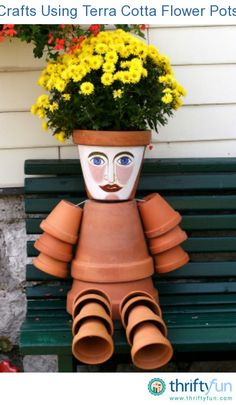 This is a guide about crafts using terra cotta flower pots. Terra cotta flower pots are an excellent choice for making a variety of crafts both for your home and garden.