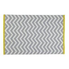 Wave - Tappeto grigio in cotone a pelo corto 140 x 200 cm