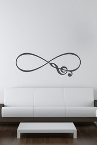 Musical Note Infinity Symbol Vinyl Wall Decal