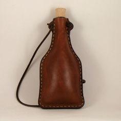leather flask/bottle