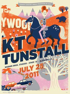 Conan O'Brien's Summer Concert Series Posters by Tad Carpenter