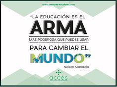 #NelsonMandela #Acces #Quotes #Escuelas