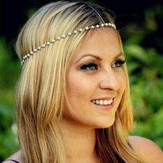 UK Bohemian Women Metal Pearl Head Chain Jewelry Forehead Headband Hair Band New | eBay