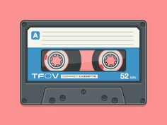 Compact Cassette by Jake Lazaroff Hipster Drawings, Easy Drawings, Couple Drawings, Pencil Drawings, Casette Tapes, Desenhos Gravity Falls, March Themes, Hipster Wallpaper, Collage Background
