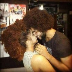 Lol you'll get it if you have natural hair. Natural Hair Journey, Natural Hair Care, Natural Hair Styles, Natural Beauty, Black Power, Image Fashion, Pelo Natural, Natural Hair Inspiration, Black Couples