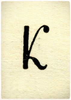 """K"" typography lettering"