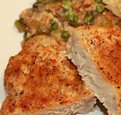 If you have ten minutes and four pork chops, you're pretty much set to make Easy Pork Chop Casserole.