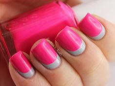 .reverse french tip.