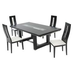 El Dorado Furniture Novo Dark Oak 5 Piece Formal Dining Set