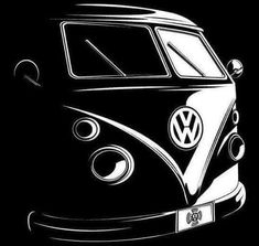 Awesome Automotive Art Work For Your Man-Cave Volkswagen, Vw T1, Stencil Art, Stencils, Auto Illustration, Jetta A4, Vw T3 Syncro, Car Drawings, Automotive Art