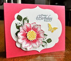 Beautiful Bunch; Fun Flower; Stampin Up; Birthday Card;  Card Creations by Beth