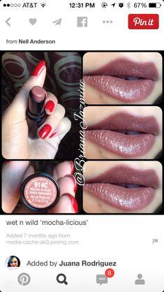 Barbie Drugstore Makeup — wet n wild 'mocha-licious' Wet N Wild Lipstick, Brown Lipstick, Lipstick Shades, Lipstick Colors, Lip Colors, Fall Lipstick, Matte Lipstick, Mood Lipstick, Purple Lipstick