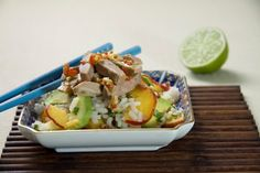 Rice salad with duck