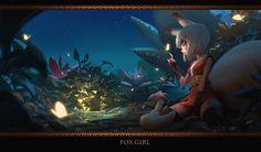 ArtStation - Fox girl, X TRAIN