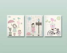Nursery art Baby room decor Baby girl nursery wall by DesignByMaya, $70.00