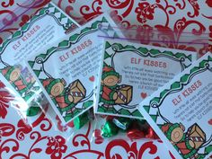 Elf Kisses- Fun FREEBIE for a cute little gift for your students this year!