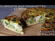 Clafoutis aux courgettes et feta - YouTube Tortilla, Quiche, Zucchini, The Creator, Sandwiches, Four, Vegetables, Breakfast, Tube