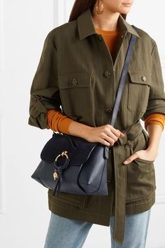 694dba15d964 See By Chloé - Joan small suede-paneled textured-leather shoulder bag