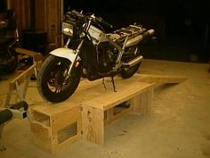 Motorcycle work bench plans the kind you put your for Garage neet