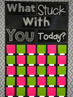 Education to the Core: Classroom Reveal: What Stuck With You Today FREE Quick Survey Chart!