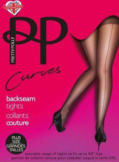 20e661c3c4 One Size:Plus Pretty Polly Curves Backseam Detail Tights Black PN AST9  #fashion #